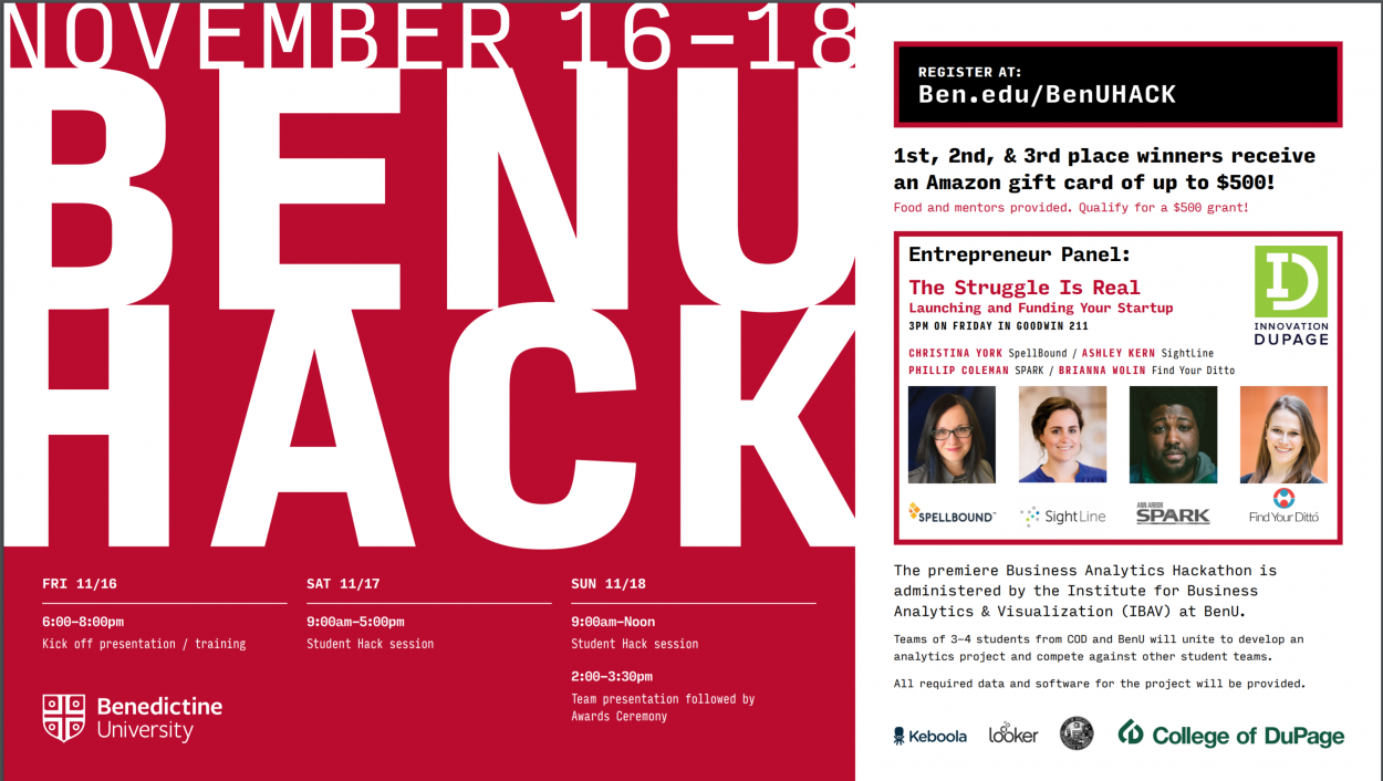 Entrepreneur Founder Panel: Benedictine University Hackathon